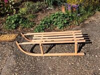 Wooden Sledge Great fun for the kids in winter