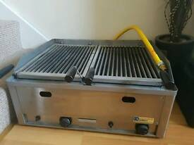 Commercial double gas grill