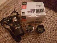 Sony NEX F3 Camera + 3 lenses