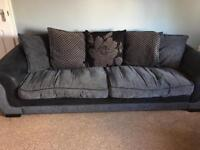 Large DFS sofa and swivel chair