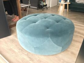 Ottoman / Pouffe, Petrol Green, from MADE, never used, minor mark