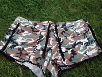 Shorts, combat style, small to medium