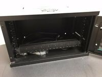 """6U 19"""" black network cabinet + PDU"""
