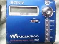 sony mini disc ,walkman