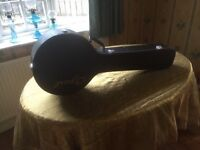 Black Banjo Case (Hard) & Banjo Stand Good Condition will fit 5 String Banjo