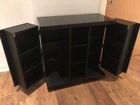 7 piece black high gloss furniture set