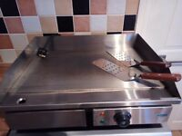 Electric Griddle 55cm Countertop Flat Hotplate + Free Spatulas