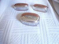 For Sale: Silver plated/ glass dressing-table set.
