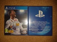 New & Sealed Fifa 18 PS4 with 14 Days PS Plus Ultimate Team Players Pack