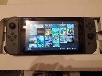 Nintendo switch with lots of games, Zelda, hyrule, Mario games, Pokemon , megaman, sonic, unpatched