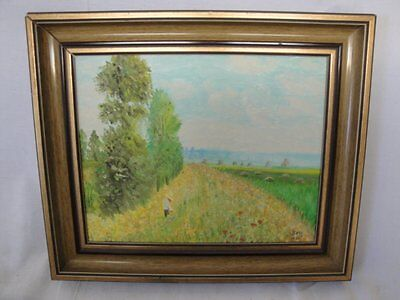 schönes Gemälde im Kornfeld signiert Beck Biberach an der Riss