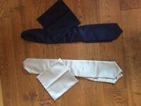 5 Wedding Cravats + Pocket Tie (will sell as individual sets)