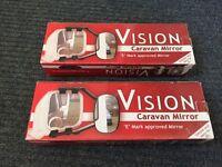 2 Caravan towing mirrors by Vision, New unused