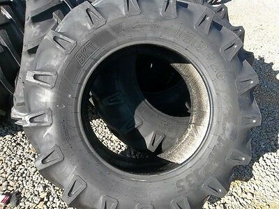 Two 14.9x2614.9-26 Ford John Deere 8 Ply Tube Type Bar Lug Farm Tractor Tires