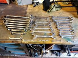 25 Mixed AF Spanners Plus 5 BA Spanners