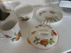 Royal Worcester Evesham Bowl Jug Flan Tureen Dish LOT