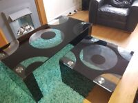 Coffee table and matching lamp table