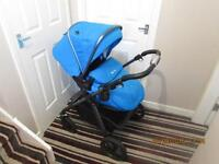 Silver Cross Graphite Pioneer 3in1 (Sky), Simplicity Car Seat (Black), Bouncy Chair and Swing