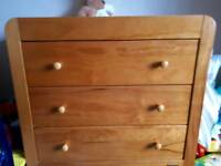 Mama's and Papa's wardrobe and chest of drawers