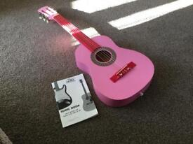 """Girls 30"""" Pink Guitar with song book"""
