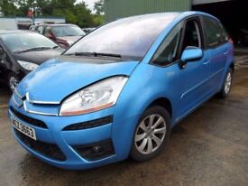 citroen c4 picasso parts from a 2007/8 1.6 hdi auto car met blue