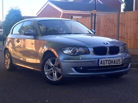 2008 BMW 1 Series 2.0 120d SE 3dr FSH + HEATED LEATHER + XENONS not audi a3 volkswagen golf c class