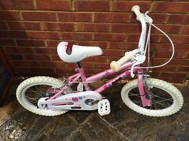 girls bike 15 inch wheel. pink and white