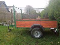6x4 ft wooden trailer