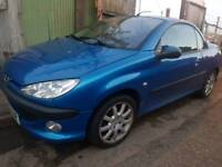 PEUGEOT 206 CC CONVERTIBLE WITH 12 MONTHS MOT