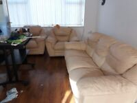 FREE Leather 3 piece suite in used condition