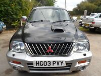 2003 MITSUBISHI L200 ANIMAL SILVER BLACK , CLEAN TRUCK WITH ROLLER SHUTTER FREE UK DELIVERY