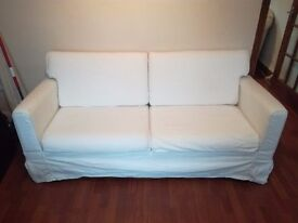 Sofa IKEA, retail price 150 GBP, asking for 70 GBP