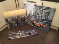 Canvas prints / duvet set
