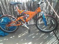 orange kids raleigh bike £15
