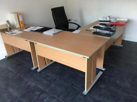 Office desks and chair - will separate.
