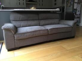 3 seater sofa. Grey
