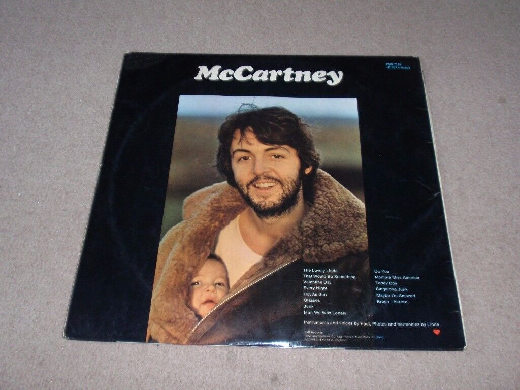 McCartney by Paul McCartney vinyl record