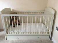 Nursery bundle - cot bed, mattress and 2 x drawers