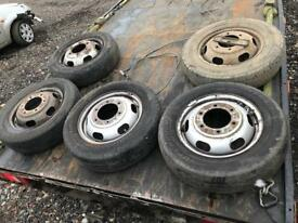 Ford transit mk6 tipper truck Luton ect Wheels with tyres