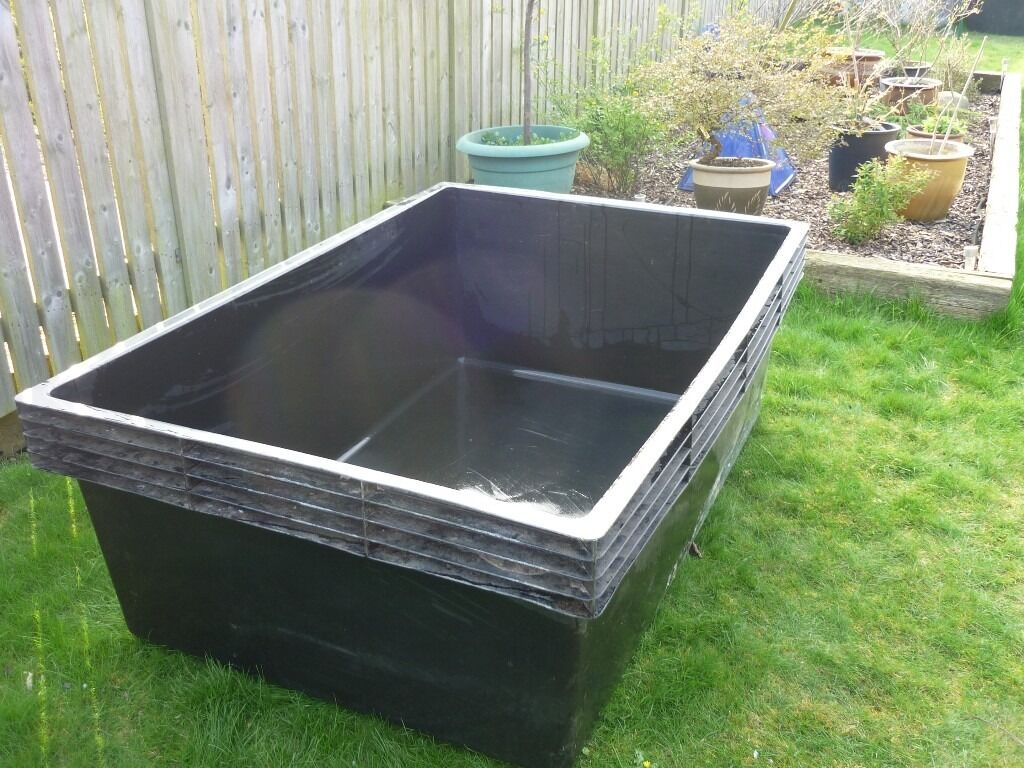 Large laguna rigid free standing fish pond holding tank for Large koi pool