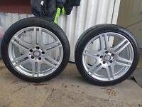 """Mercedes alloys 18"""" AMG"""