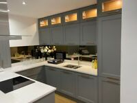 Ex display painted oak kitchen and quartz worktops