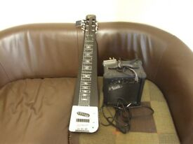 Revelation American Slide Guitar with Small Amp, Tuner and Bottleneck. Hardly used.