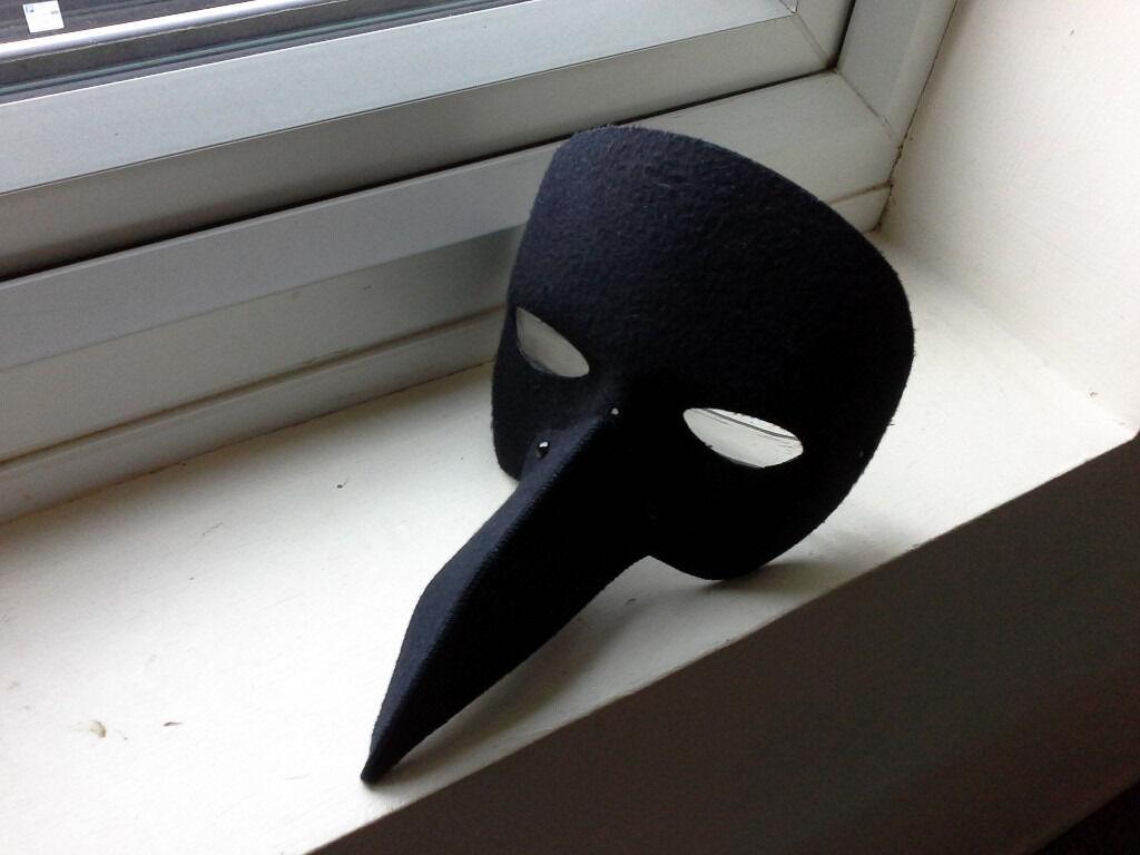 black mask halloween costume masquerade mask nero half face long ...