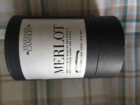 Vineyard Merlot boxed candle - unopened