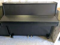 Refurbished Satin Black Barratt & Robinson Upright Console Piano - CAN DELIVER