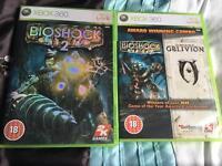 Xbox 360 games Bioshock, Bioshock 2 and Oblivion