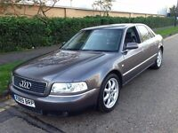 AUDI A8 SPORT AUTOMATIC 2001 LONG MOT, BOSE SOUND LEATHER INTERIOR,FULL HISTORY