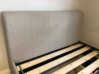 King size sleigh bed with ottoman and storage drawers