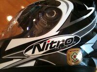 Nitro N325-Vx LARGE Junior Fullface Motorbike Helmet
